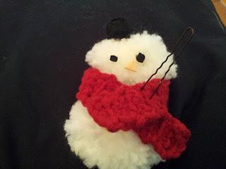 Noël-écharpe-déco-bonhomme-de-neige-crochet
