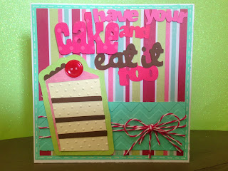 Cricut, Sweet Treats, Birthday Card, Chevron Embossing, Baker's Twine