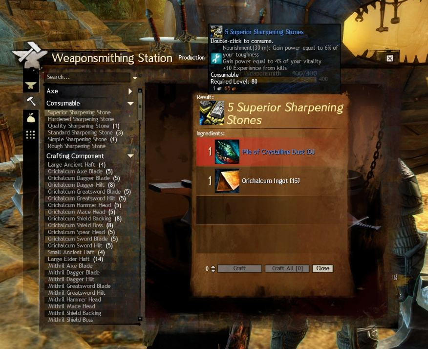 Guild Wars  Crafting Leveling