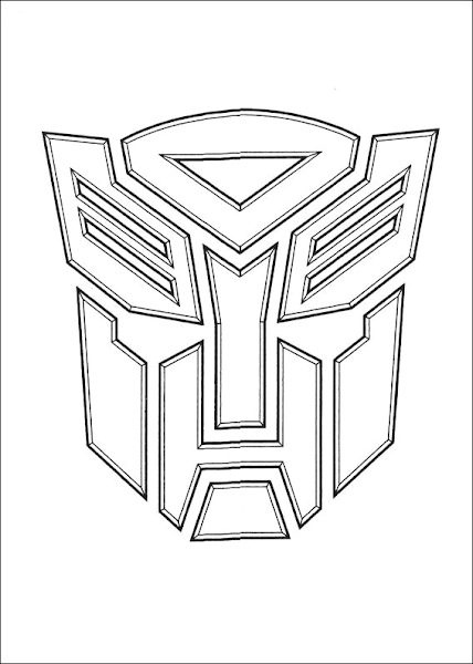 optimus prime coloring pages - Optimus Prime Face Coloring Pages