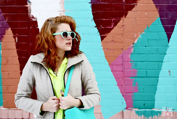 Akron Fashion - Nasty Gal sunglasses - mint accessories