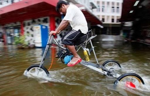 Sepeda Tinggi Roga Tiga