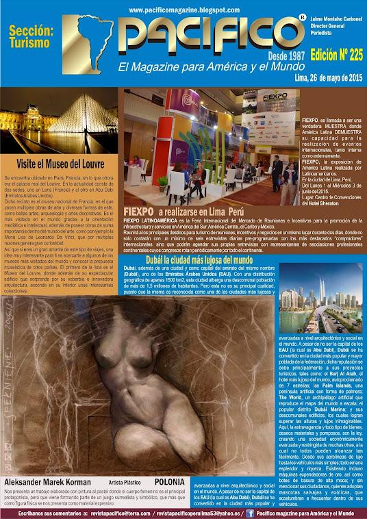 Revista Pacífico Nº 225 Turismo
