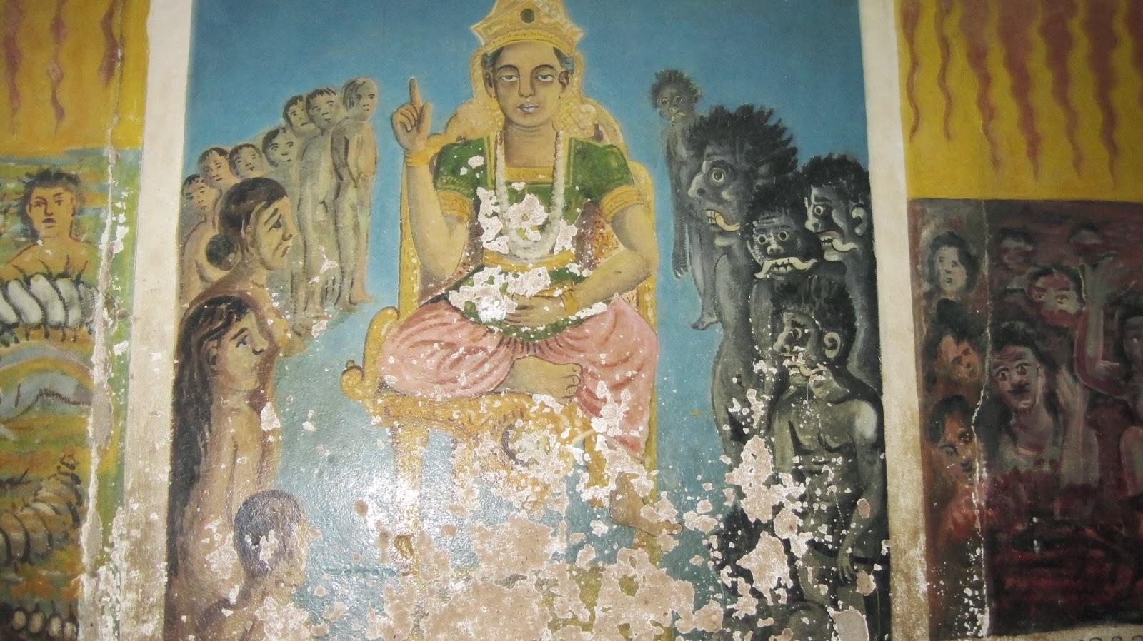 Fresco en el Templo de Aluvihara (Sri Lanka)