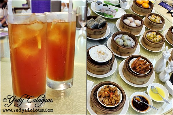 Crystal Jade Unlimited Iced Tea for the Dim Sum Buffet