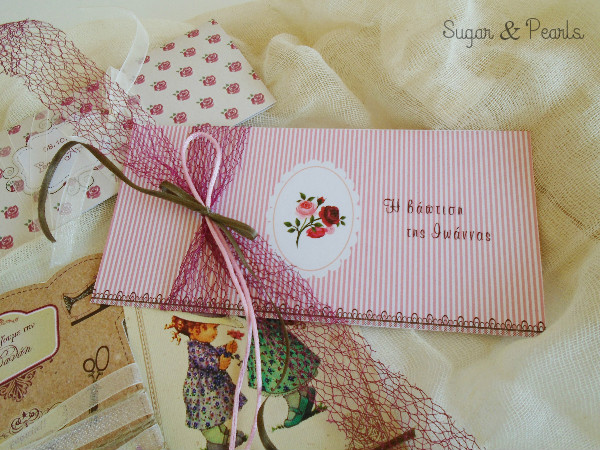 Cameo floral-προσκλητήριο βάπτισης