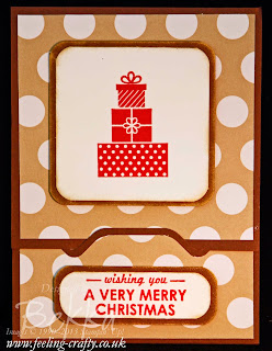 Stampin' Up! Envelope Punch Board Gift Card Holder Card by UK demo Bekka Prideaux - get the Envelope Punch Board here!