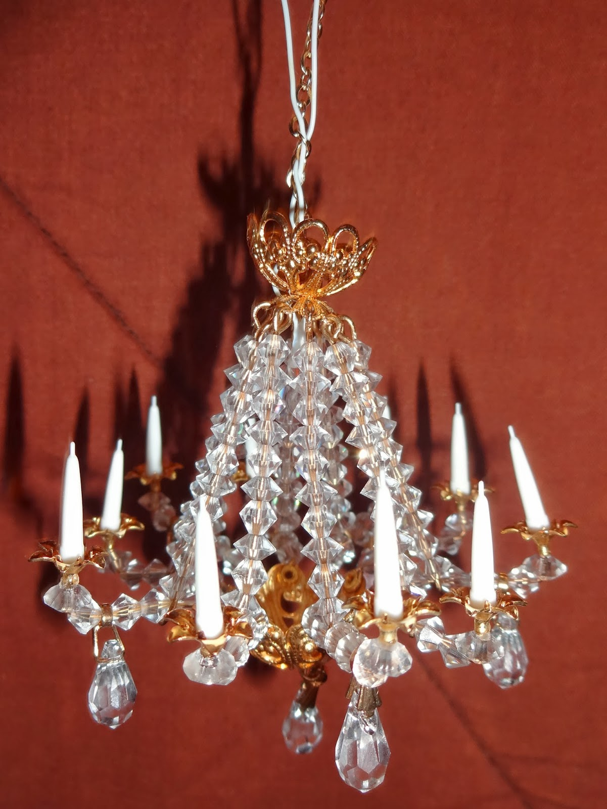 Julies boyz the status quo is nice a miniature chandelier i made this month arubaitofo Image collections