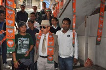 Chattrey Subba inaugurating the BJP party office in Kalimpong.
