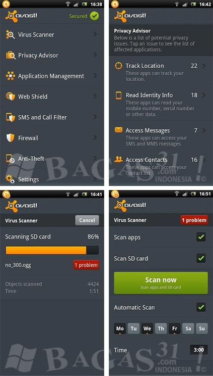 Avast! Mobile Security for Android 2