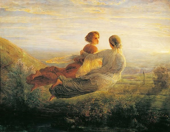 'The Departure of the Soul' by Louis Janmot (1814-1892)