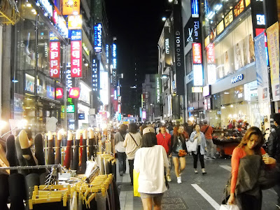 Myeongdong during Chuseok