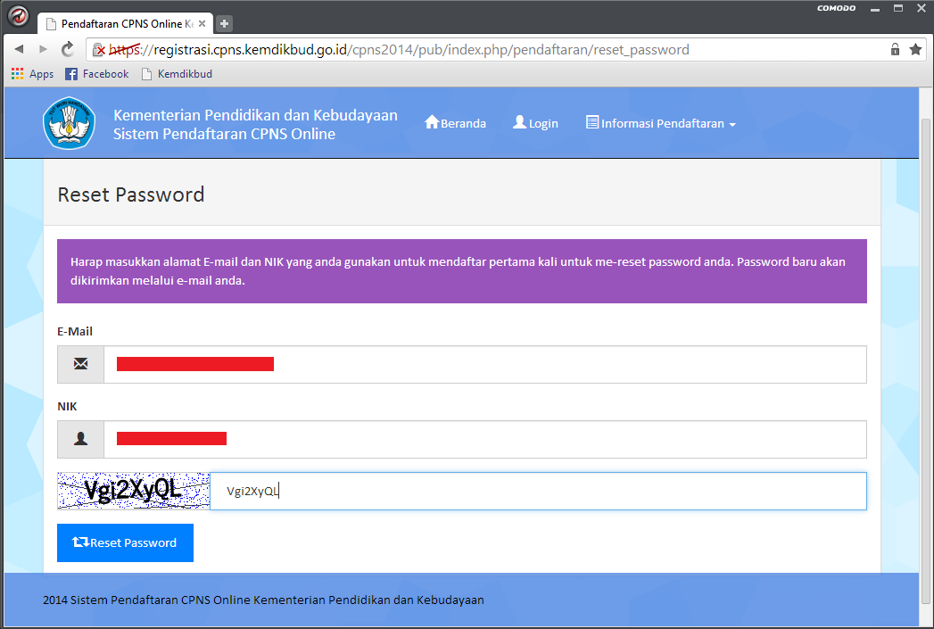 Solusi Lupa Password dan Belum Mendapatkan Password di Pendaftaran CPNS Portal Panselnas 4