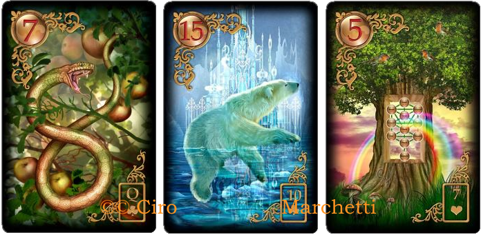 Gilded Reverie Lenormand, Ciro Marchetti, Snake, Bear, Tree