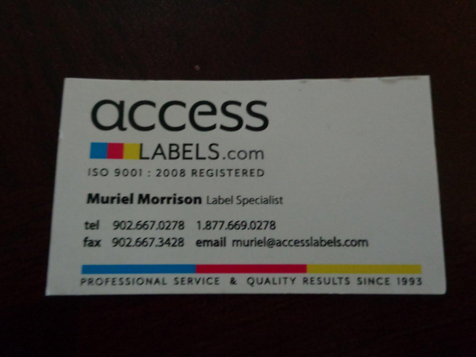 Got labels? Call Access Labels