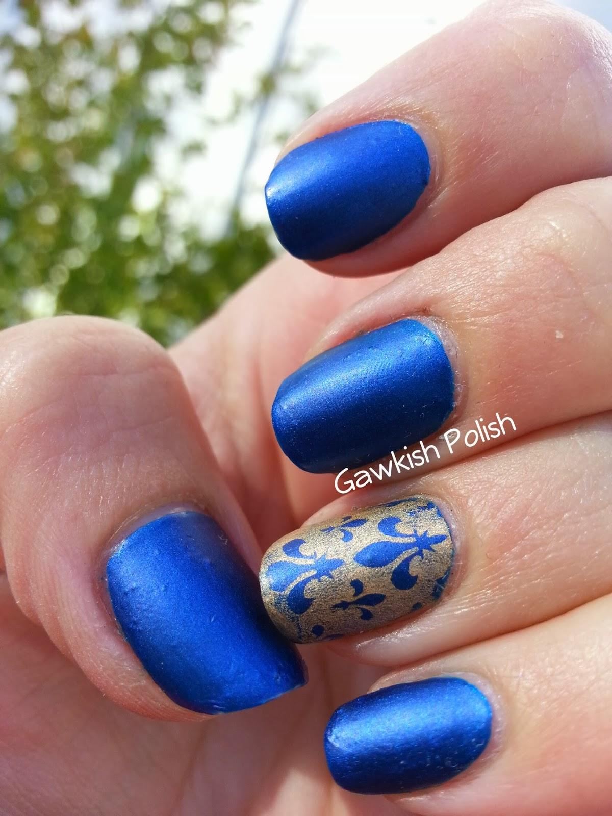 Royal Blue Matte Stiletto Nails