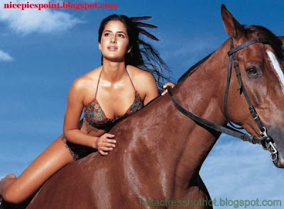 katrina kaif hot modelling in bikini in horse