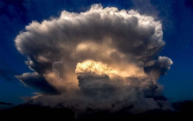 Nubes gigantes, Beijing, China