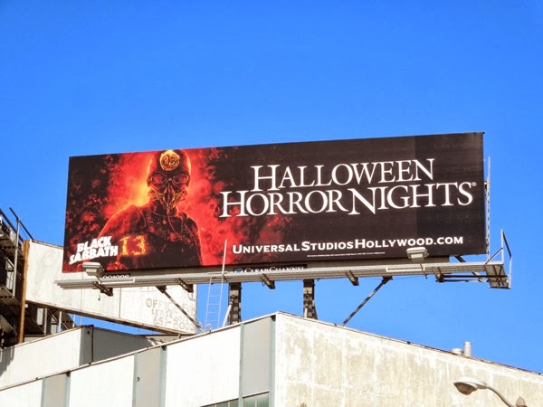 Halloween Horror Nights Black Sabbath 13 billboard