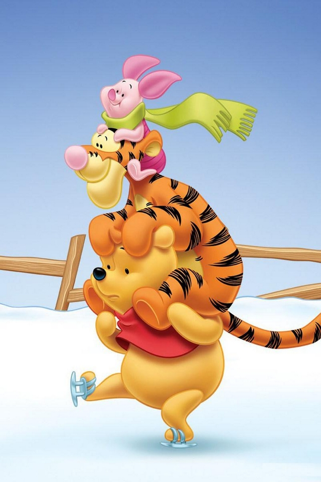 Winnie the pooh friends download iphone ipod touch android wallpapers backgrounds themes - Winnie the pooh and friends wallpaper ...