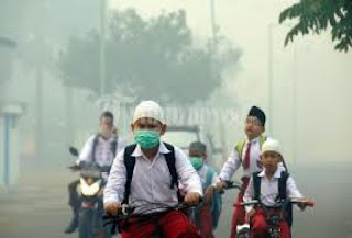 jumlah penderita ISPA terus meningkat seiring dengan semakin buruknya kualitas udara di Pontianak