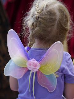 Dreamy Child with wings at Renaissance Festival in Deerfield Beach