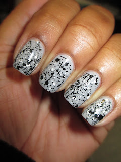 Hard Candy, Crystal Confetti, Black Tie Optional, Julep, Dendrie, glitter, chunky, black, white, rocks, nails, nail art, nail design, mani