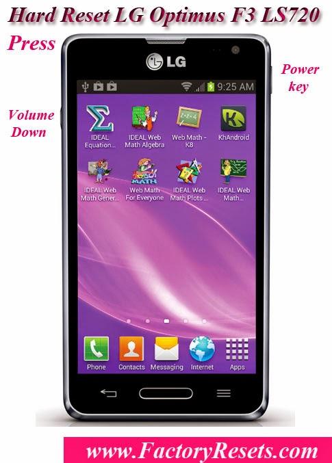 Hard Reset LG Optimus F3 LS720