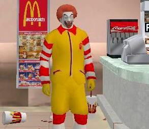 Skin Ronald Macdonald GTA