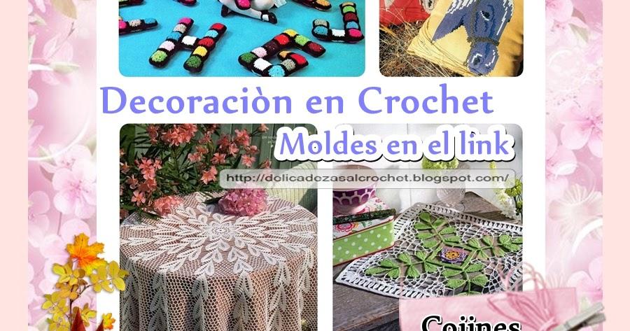 Delicadezas en crochet gabriela decoraci n en crochet for Decoracion hogar a crochet