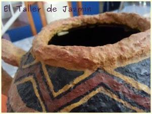 vasija en cartapesta-eltallerdejazmin