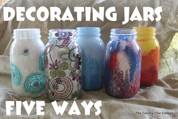 Kids DIY jar decorating