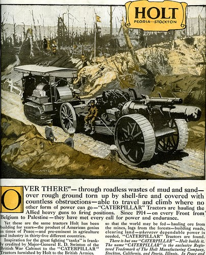 Caterpillar Tractor World War I Advertisement: