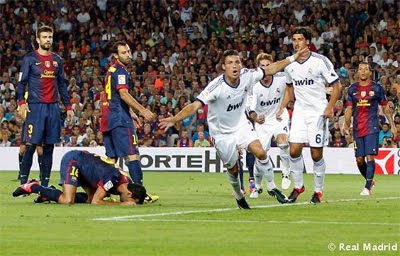 FC Barcelona Real Madrid Supercopa Camp Nou gol Cristiano Ronaldo
