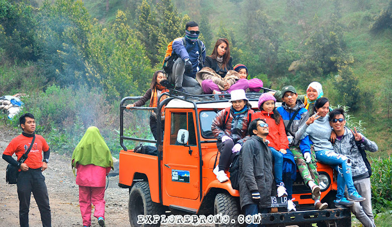 pengunjung dan wisatawan Bromo