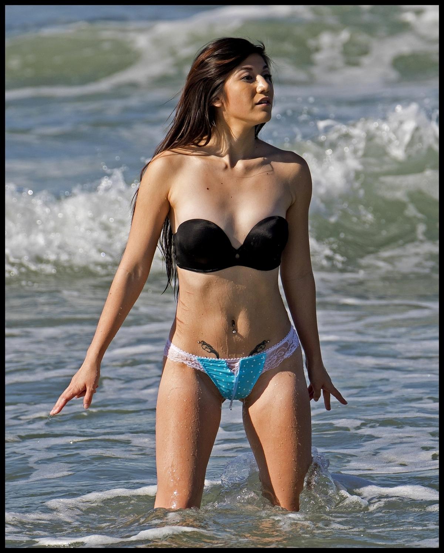 Demi lovato teal bikini