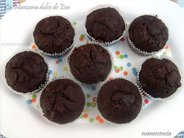 muffins desde arriba