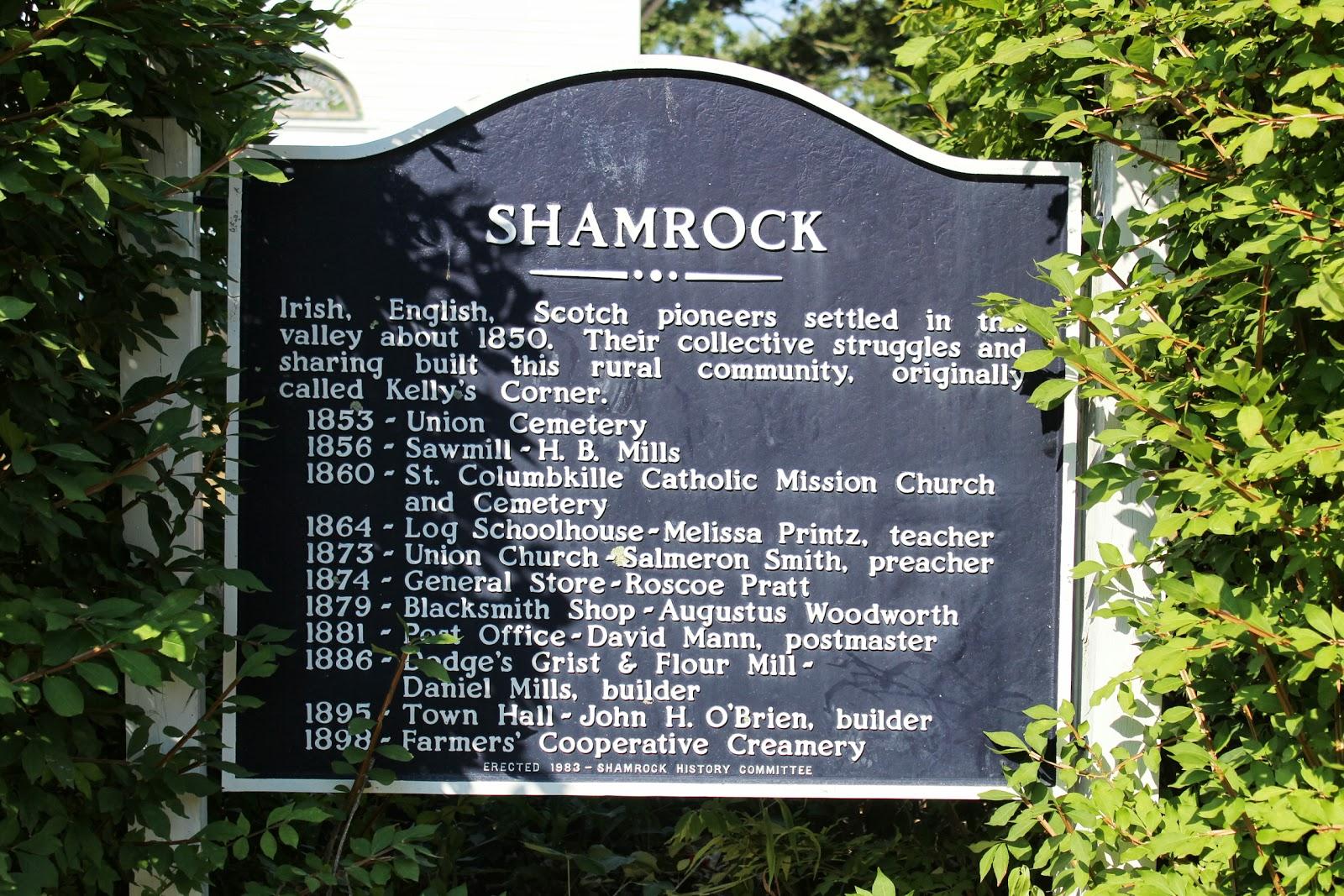 Uncategorized Shamrock History wisconsin historical markers shamrock shamrock
