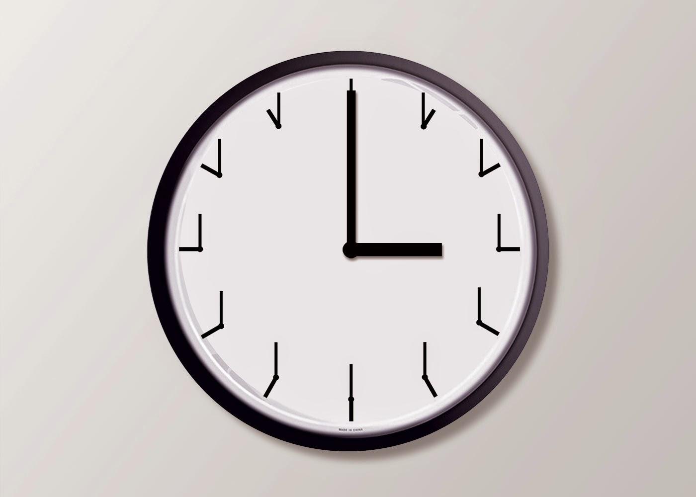 Un rellotge que en comptes de números te uns rellotgets amb l'hora que toca a la seva posició.