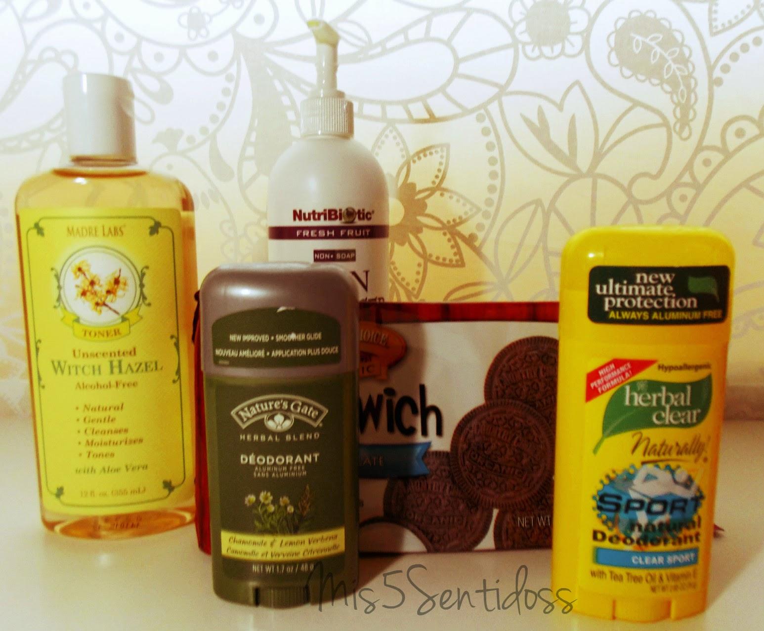 Pedido Iherb VI: Limpiador facial, tónico, desodorantes y galletas