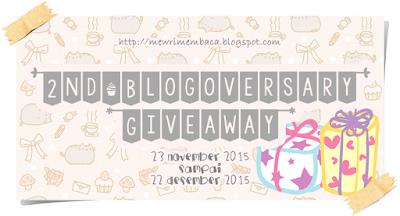 2nd Blogeoversary Giveaway Mewri Membaca