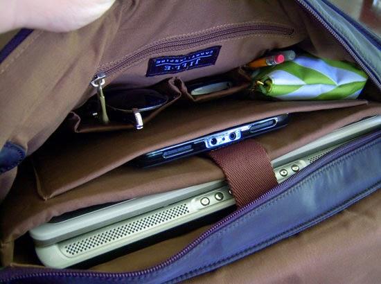 "Jill-e Designs Sasha 15"" Laptop Bag filled"