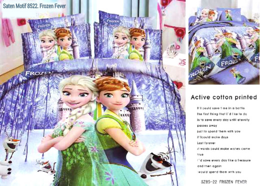 Sprei Jepang Anak Motif Frozen Fever