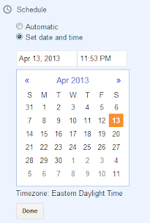 schedule blog post in advance
