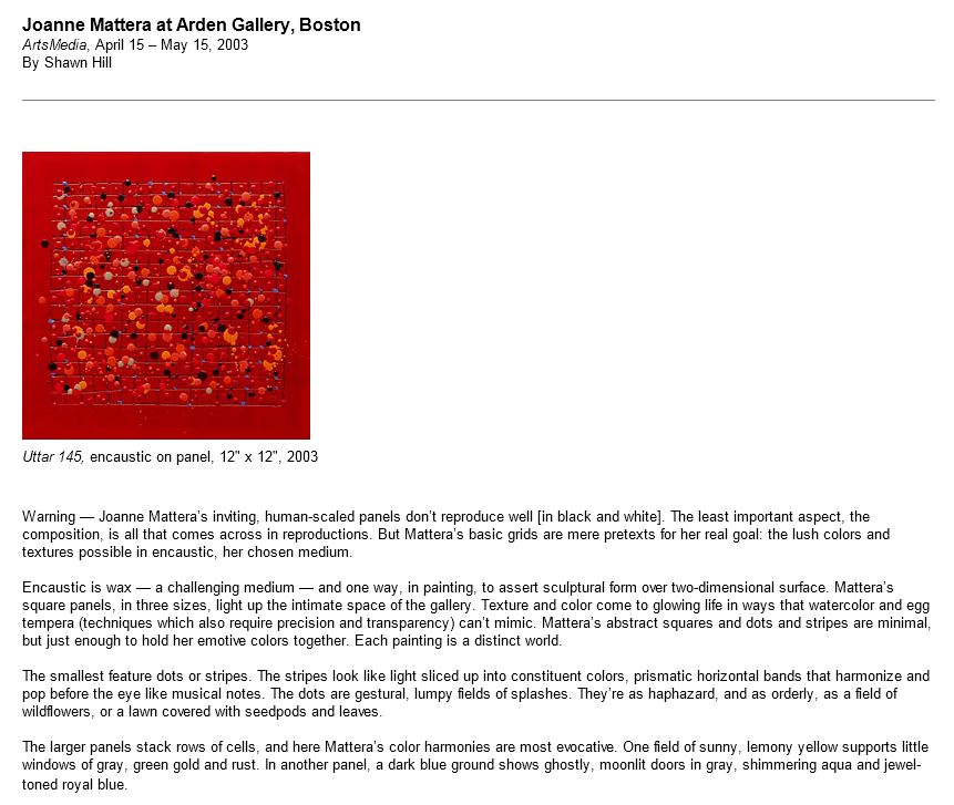 joanne mattera resume new paintings arden gallery