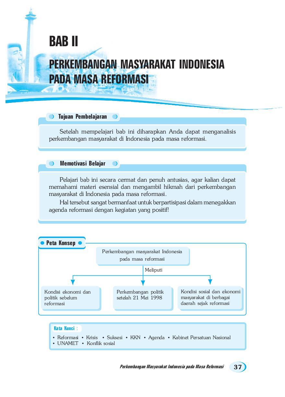 Perkembangan Masyarakat Indonesia pada Masa Reformasi - SMA Kelas 12