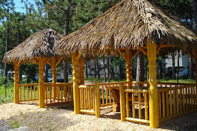 Two Gazebos With Wood Structure