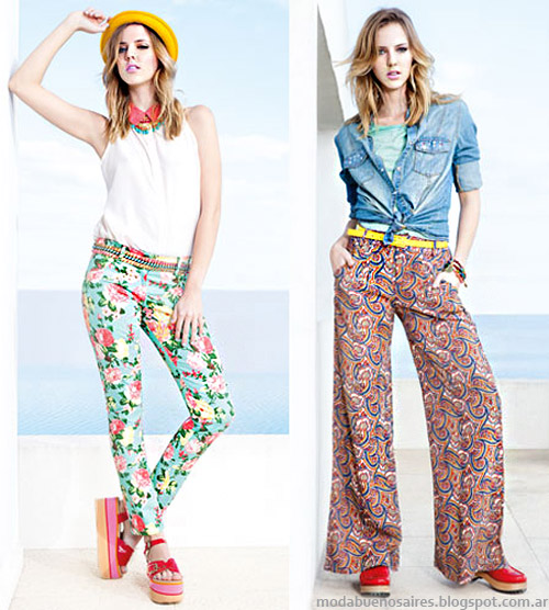 Nucleo Moda primavera verano 2014 pantalones.