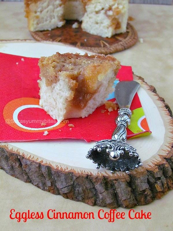 Eggless Cinnamon Coffee Cake