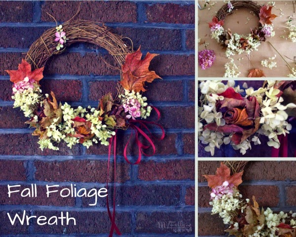 Fall Foliage Wreath/ This and That #leafroses #driedflowers #dollartreecraft